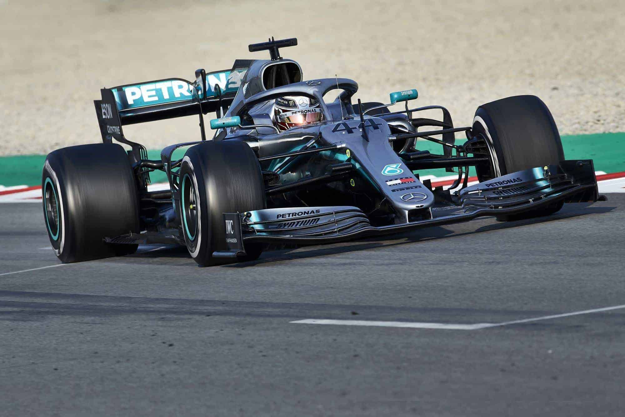 Lewis Hamilton Mercedes W10 Barcelona test 1 Day 3 Photo Daimler
