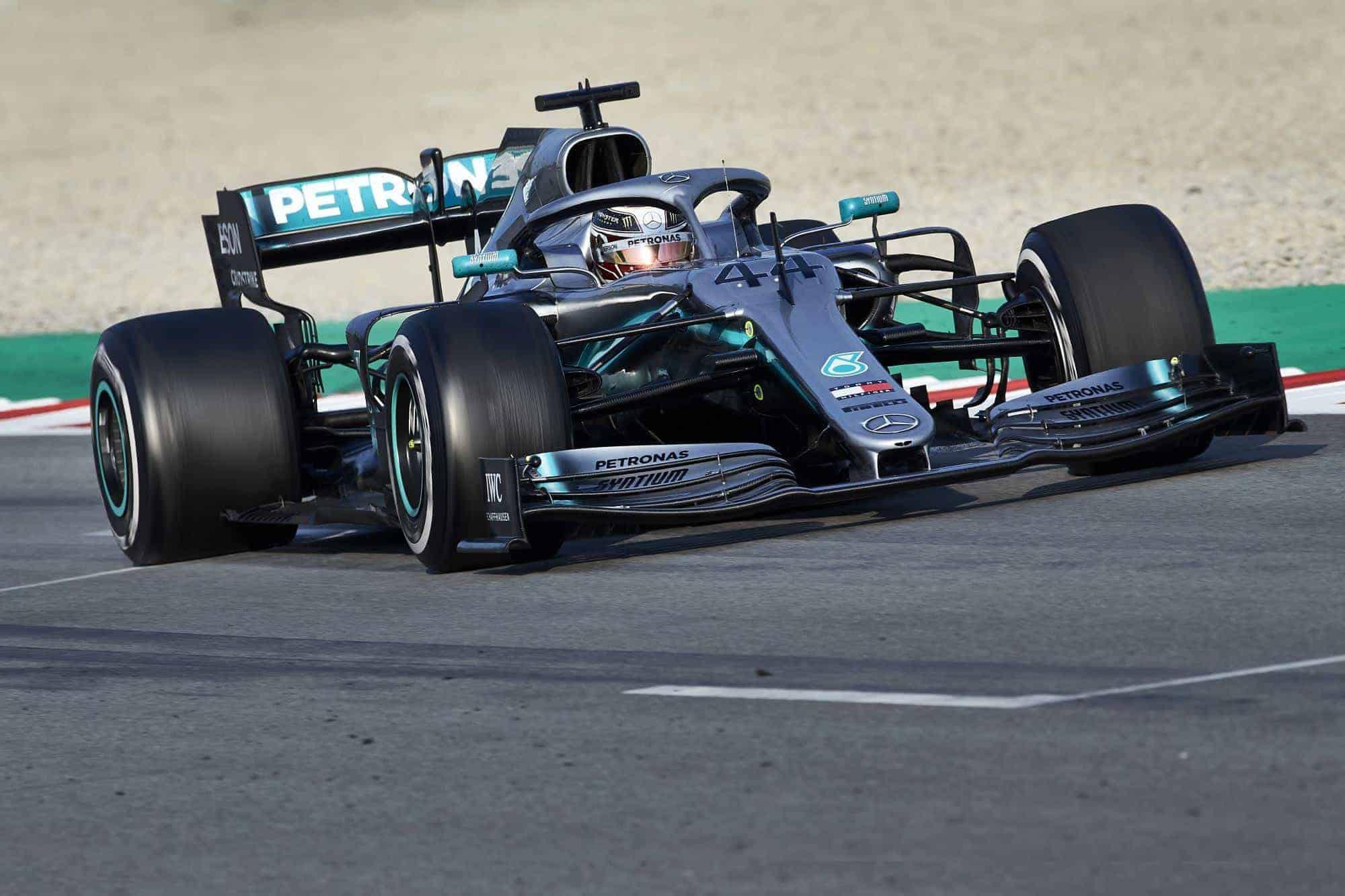 Lewis Hamilton Mercedes W10 Barcelona test 1 Day 3 Photo Daimler