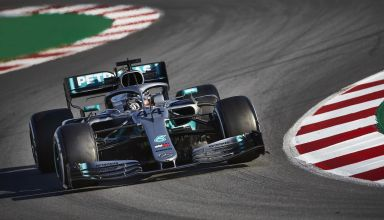 Lewis Hamilton Mercedes W10 Barcelona test 1 day 2 Photo Mercedes