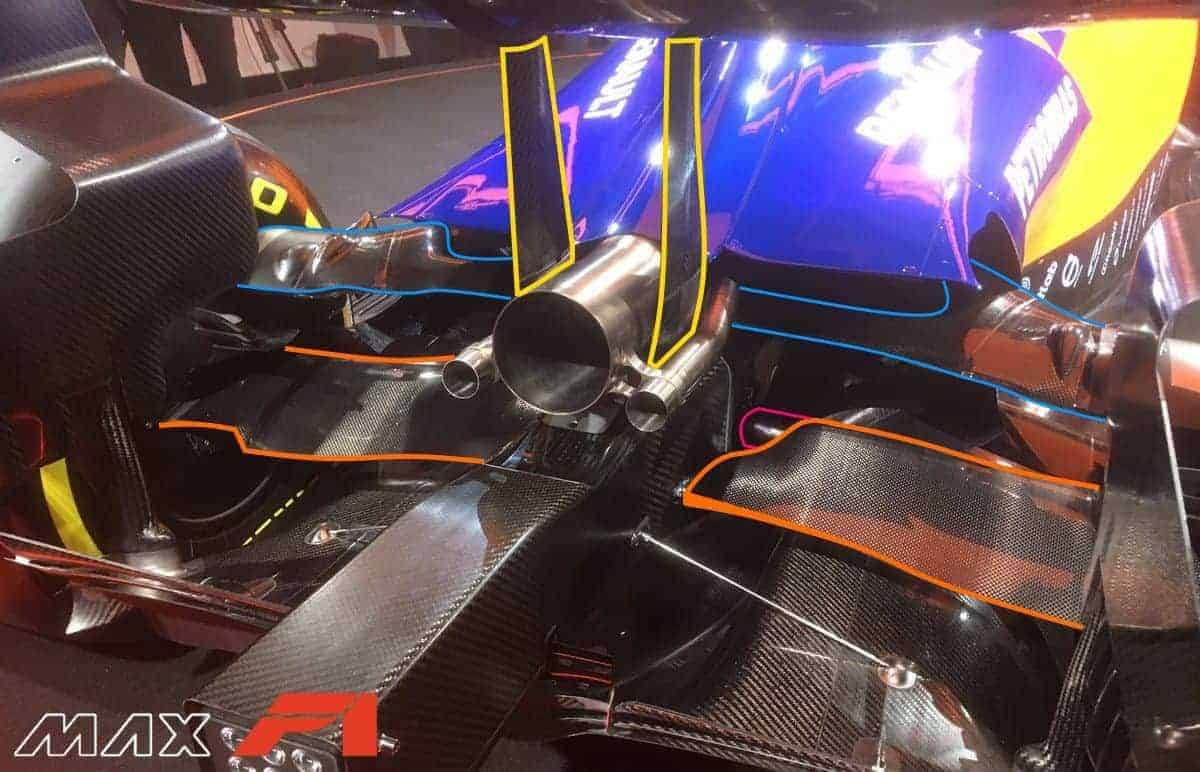 McLaren MCL34 rear end presentation Woking Photo McLaren edited by MAXF1net