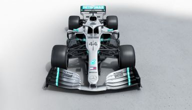 Mercedes F1 W10 EQ Power + studio photo front