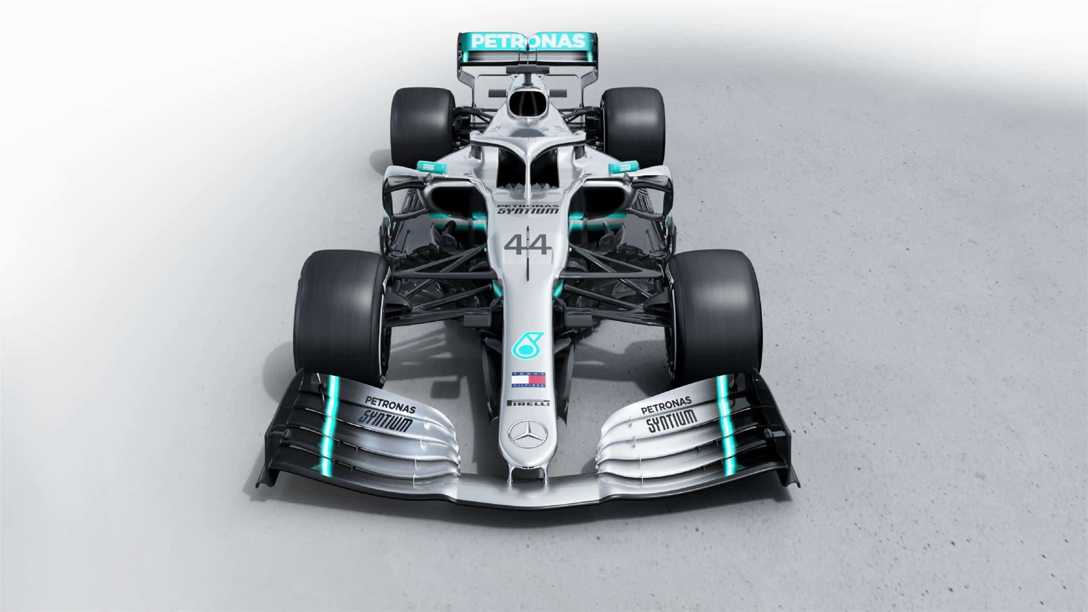 Mercedes F1 W10 EQ Power + studio photo front