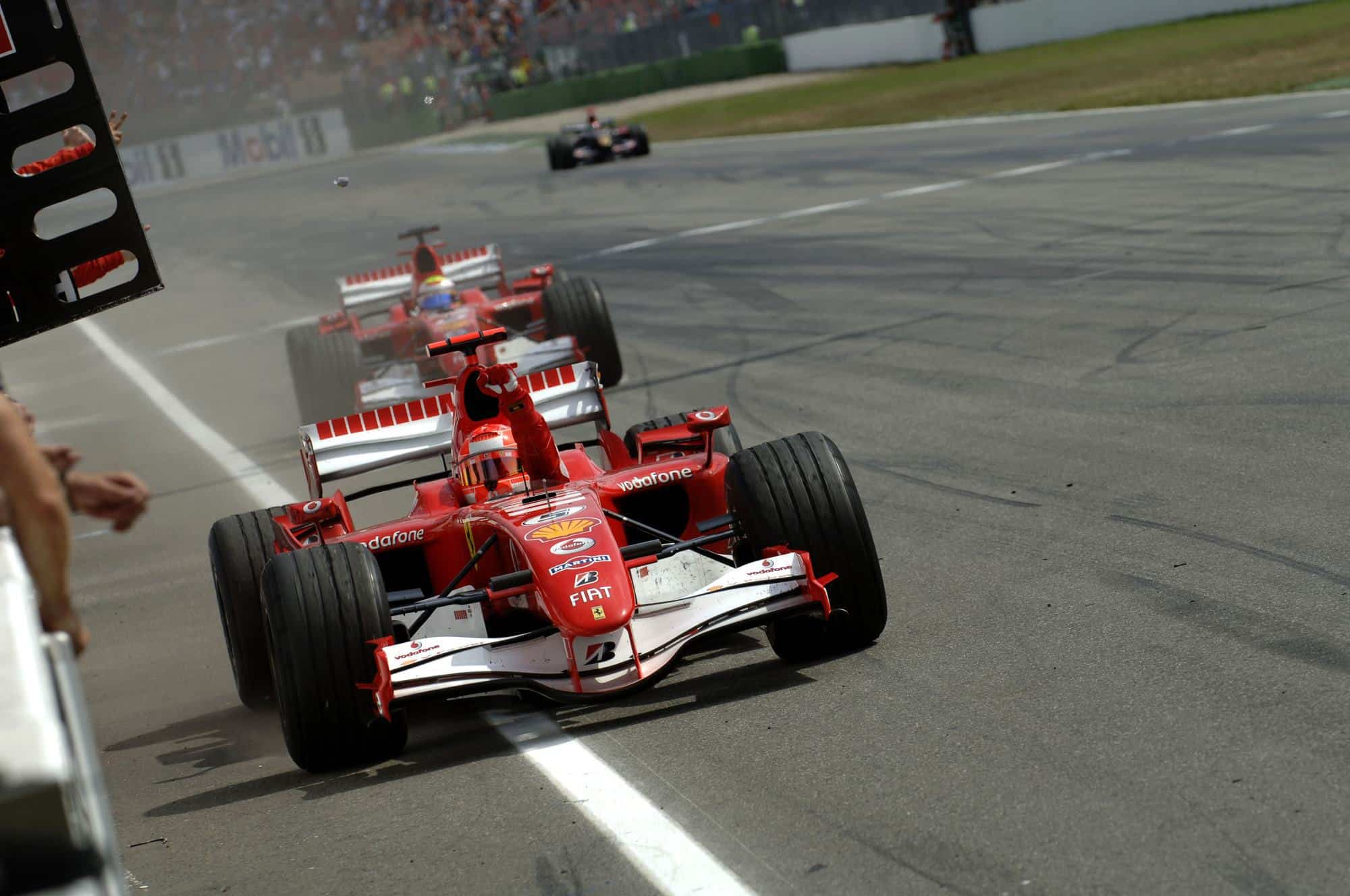 Michael Schumacher Felipe Massa Ferrari F248F1 F1 2006 German GP victory Photo Ferrari