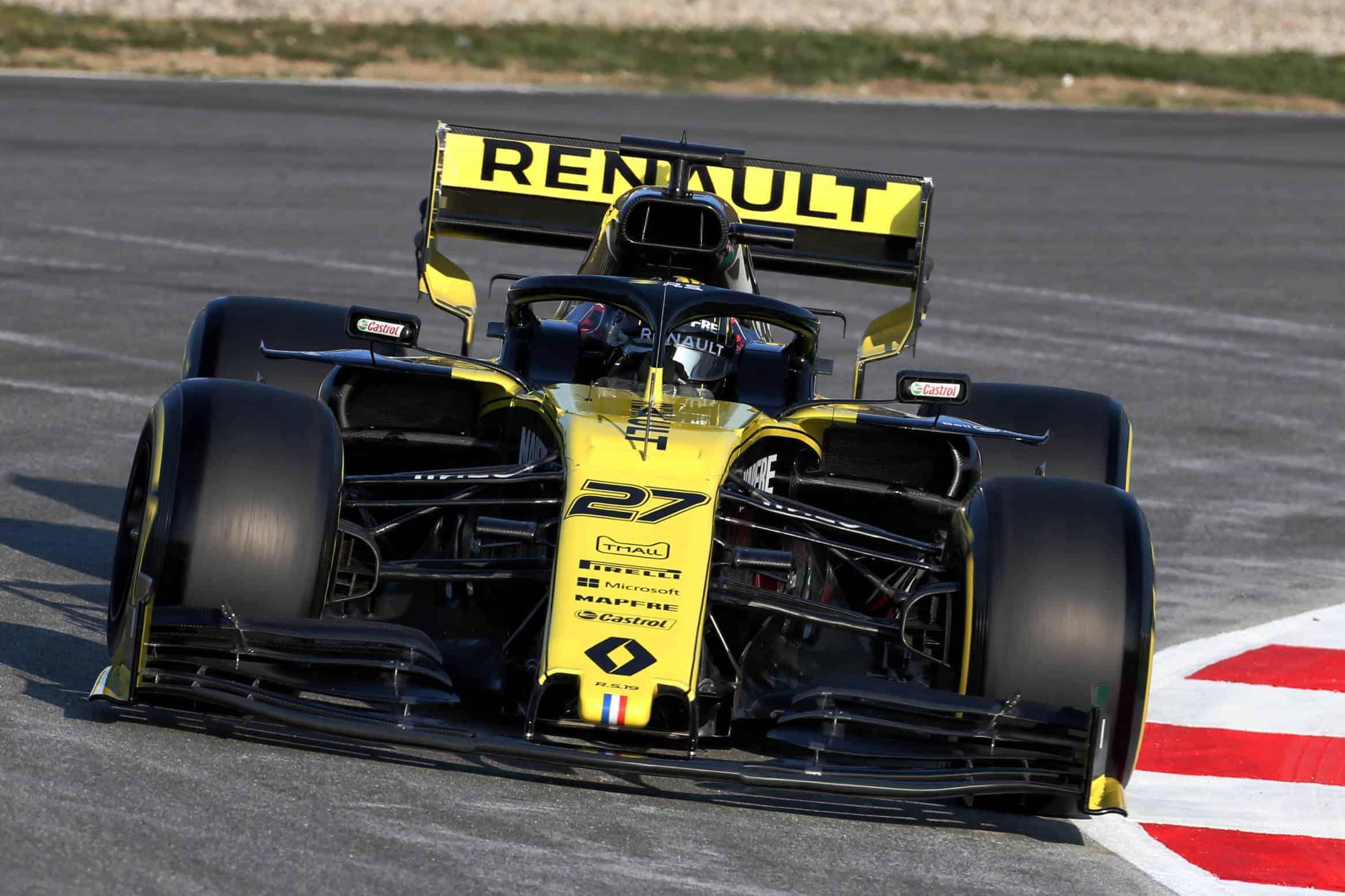 Nico Hulkenberg Renault R.S.19 Barcelona Test 1 Day 3 Photo Renault