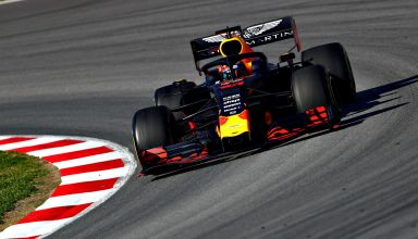 Pierre Gasly Red Bull RB15 Honda Barcelona Test 2 Day 1 26 February 2019 F1 corner Photo Red Bull