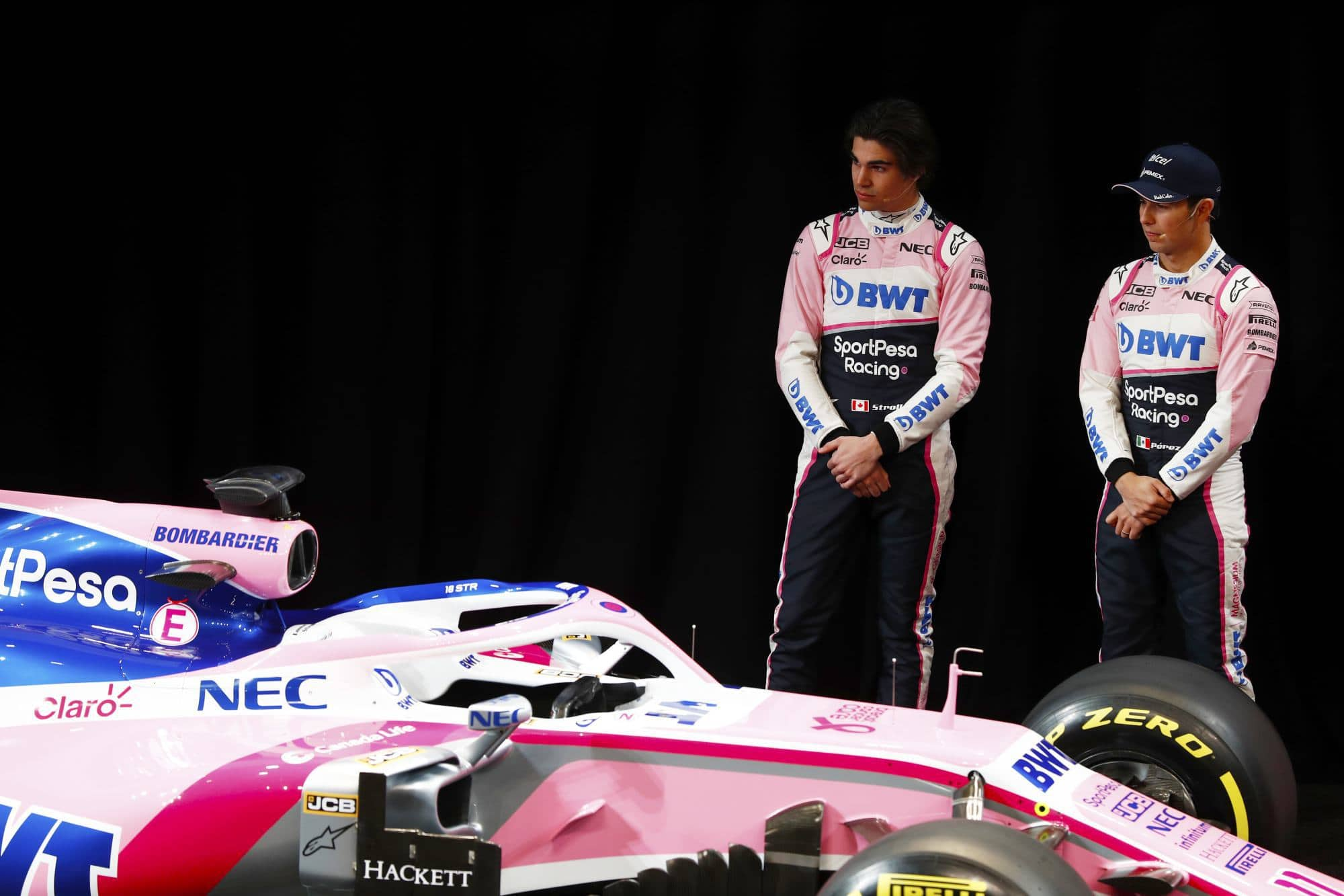 Sport Pesa Racing Point 2019 F1 launch Toronto Perez and Stroll Photo Racing Point