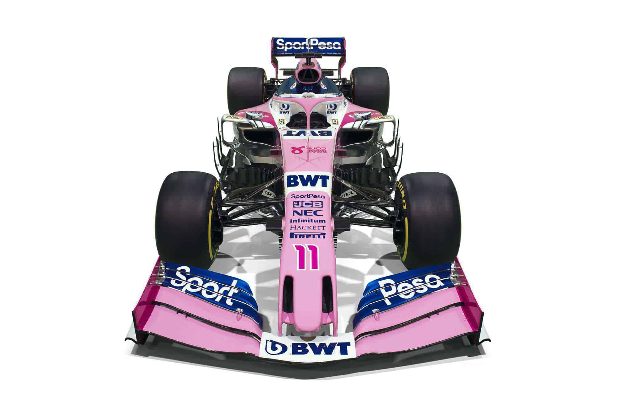 Sport Pesa Racing Point 2019 F1 launch Toronto studio photo car front view Photo Racing Point
