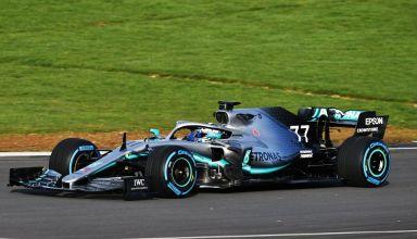 Valtteri Bottas Mercedes F1 W10 EQ Power + F1 2019 Silverstone shakedown 2