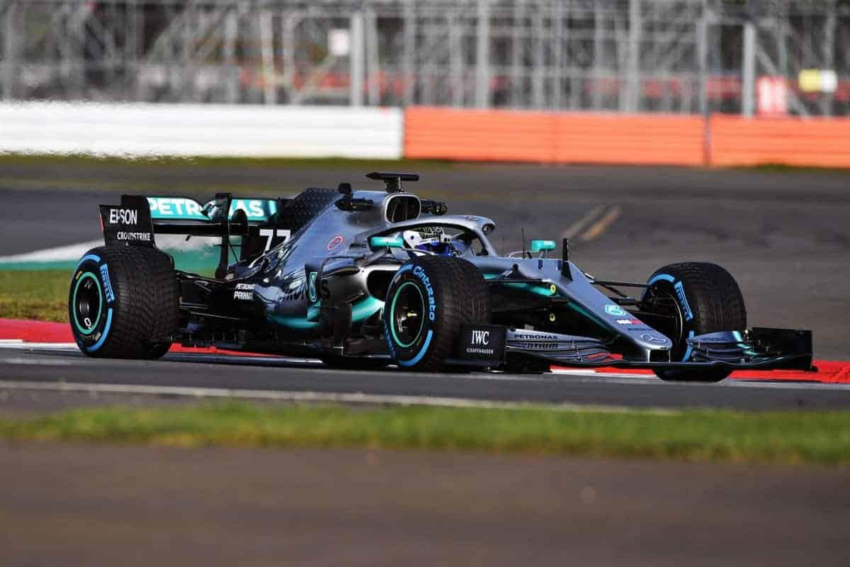 Valtteri Bottas Mercedes F1 W10 EQ Power + F1 2019 Silverstone shakedown