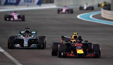 Verstappen leads Hamilton Abu Dhabi GP F1 2018 Photo Red Bull