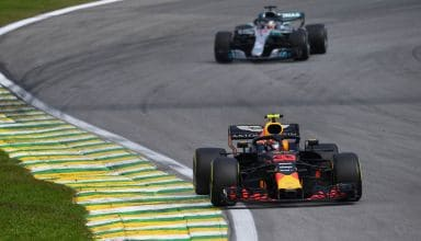 Verstappen leads Hamilton Brazilian GP F1 2018 Photo Red Bull