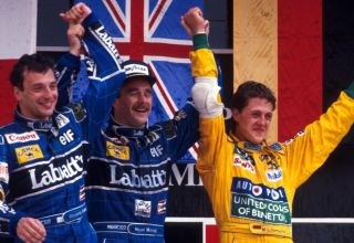 1992 Mexican GP Schumacher maiden podium Photo F1
