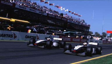 1998-Australian-GP-Coulthard-and-Hakkinen Photo McLaren