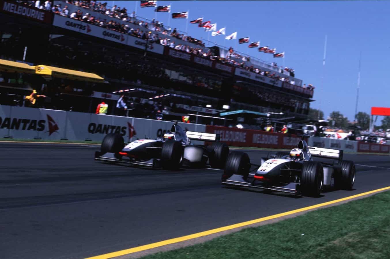 1998-Australian-GP-Coulthard-and-Hakkinen Photo McLaren