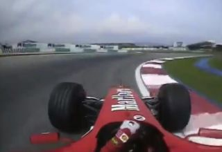 2004 Malaysian GP F1 Michael Schumacher onboard pole position lap screenshot