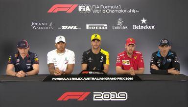 2019 Australian GP Thursday press conference Hamilton Verstappen Ricciardo Vettel Kubica Photo F1 Youtube