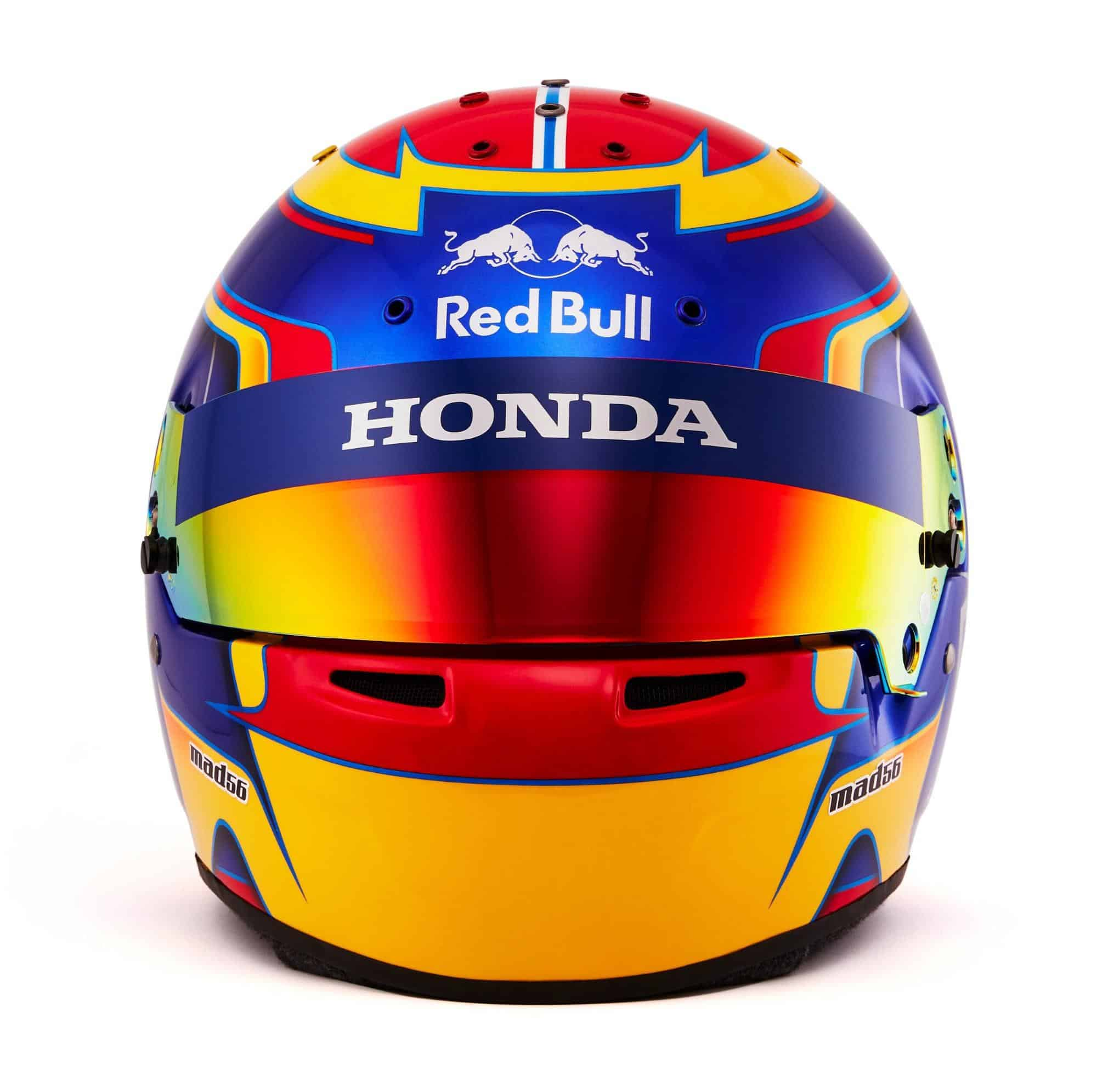 2019 F1 Alexander Albon helmet Toro Rosso Honda front Photo Red Bull Edited by MAXF1net