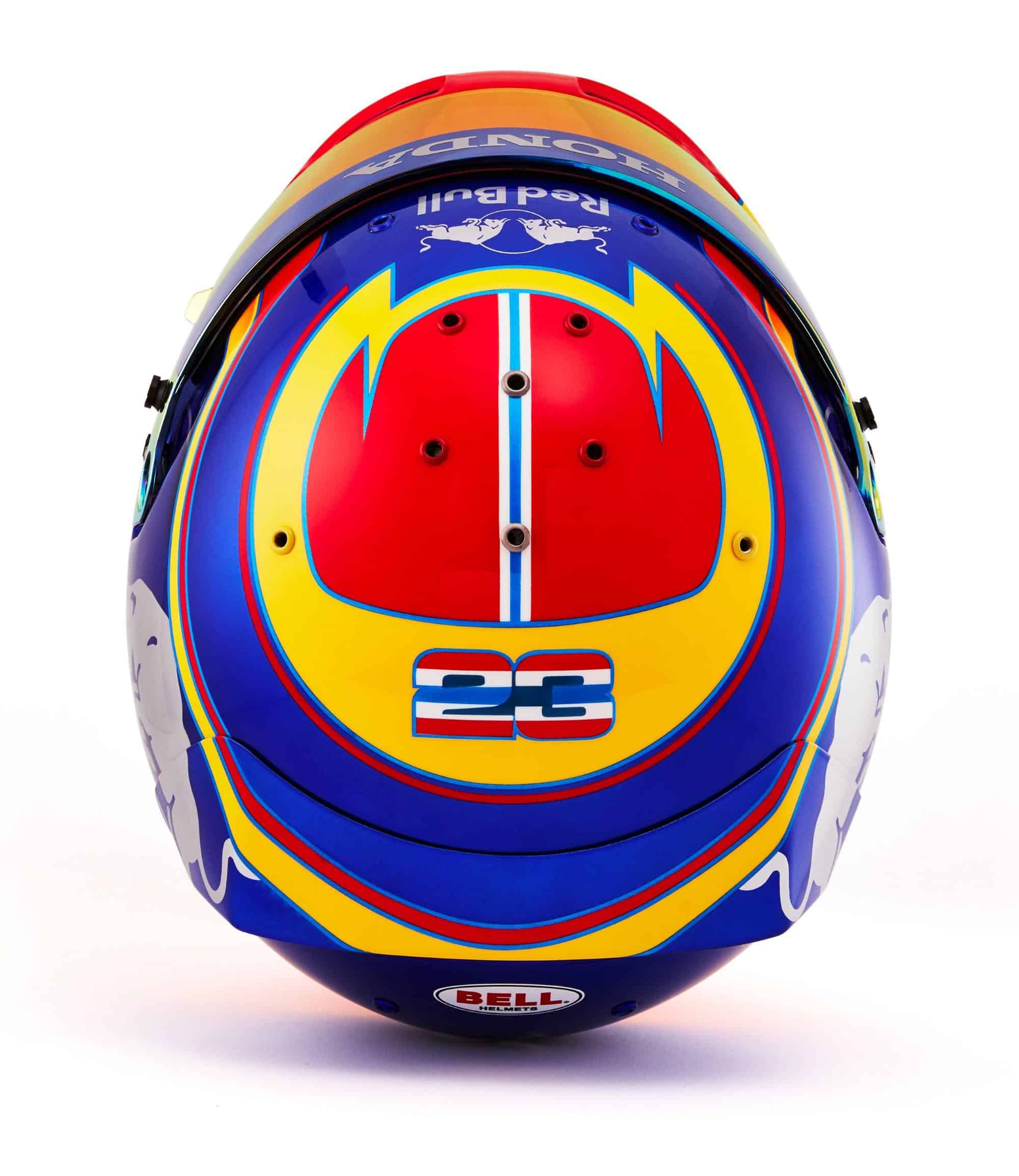 2019 F1 Alexander Albon helmet Toro Rosso Honda top Photo Red Bull Edited by MAXF1net