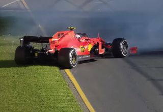 2019 F1 Australian GP Leclerc Ferrari spin Screenshot Youtube F1