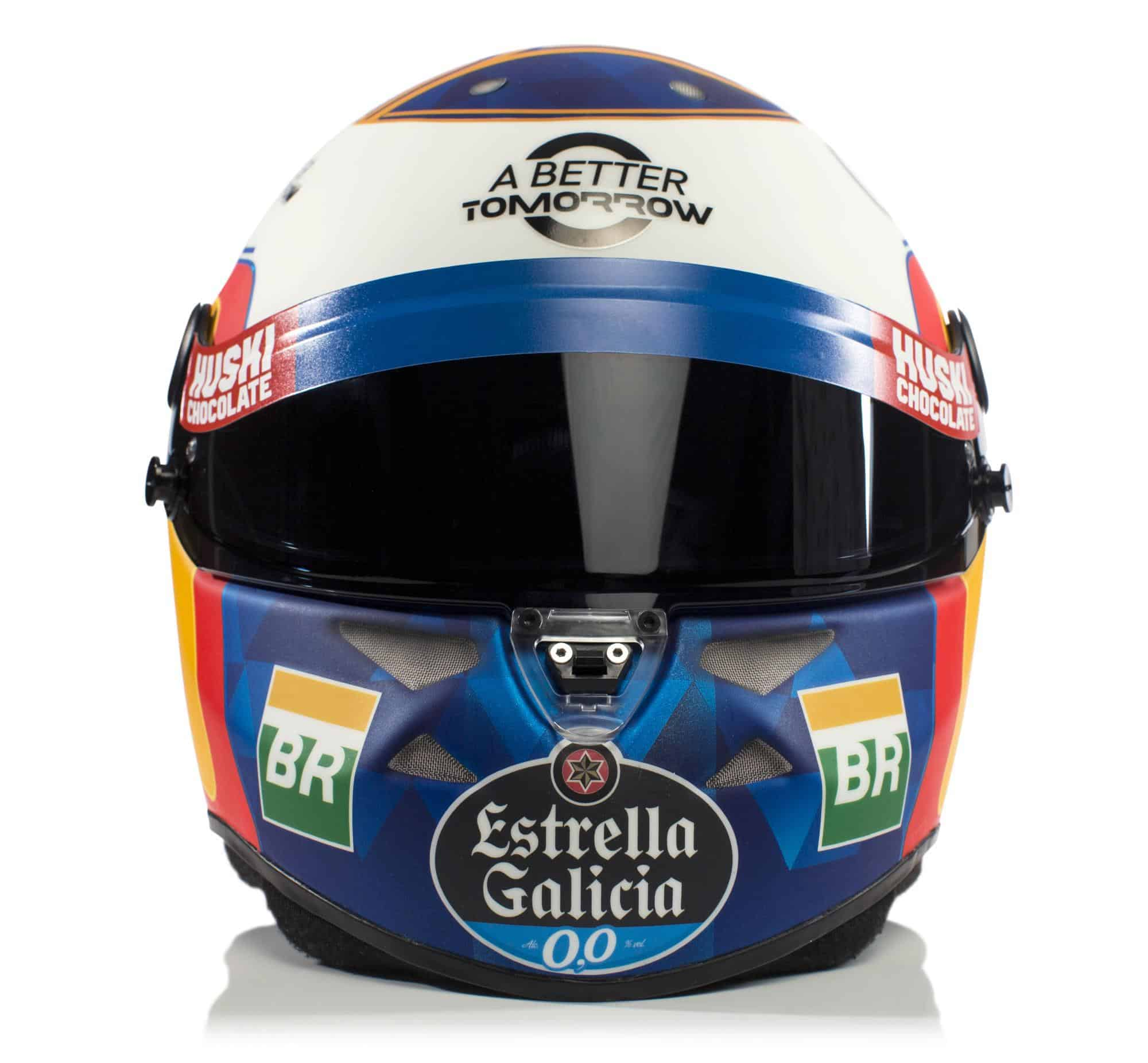 2019 F1 Carlos Sainz helmet McLaren Renault front Photo McLaren Edited by MAXF1net