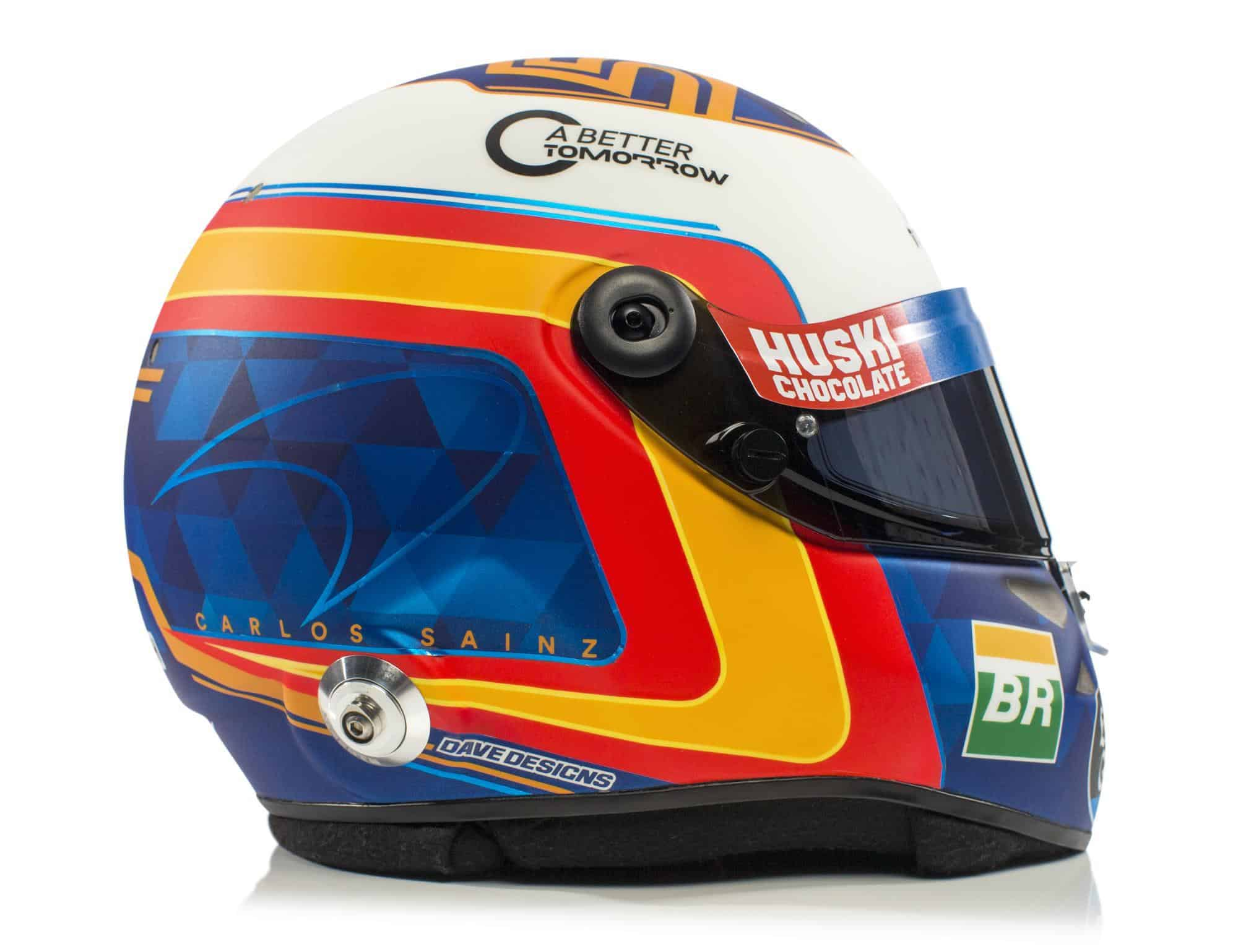 2019 F1 Carlos Sainz helmet McLaren Renault right side Photo McLaren Edited by MAXF1net