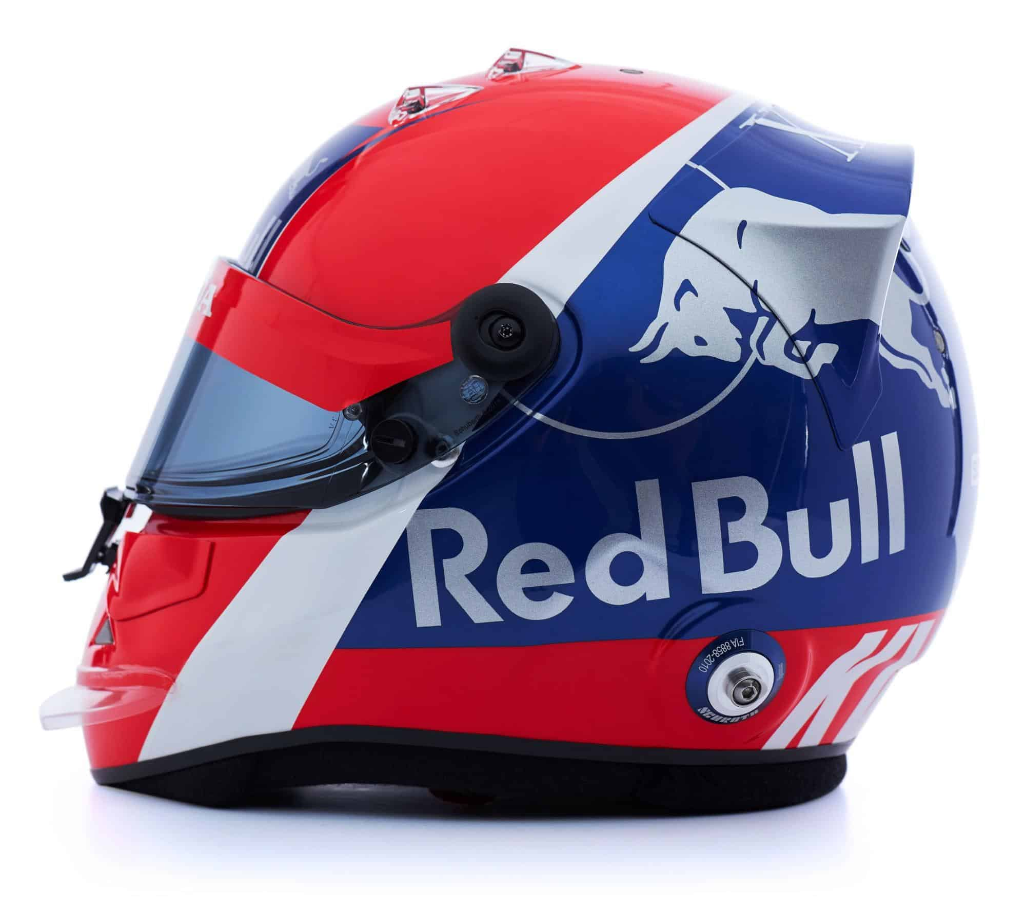 2019 F1 Daniil Kvyat helmet Toro Rosso Honda left side Photo Red Bull Edited by MAXF1net