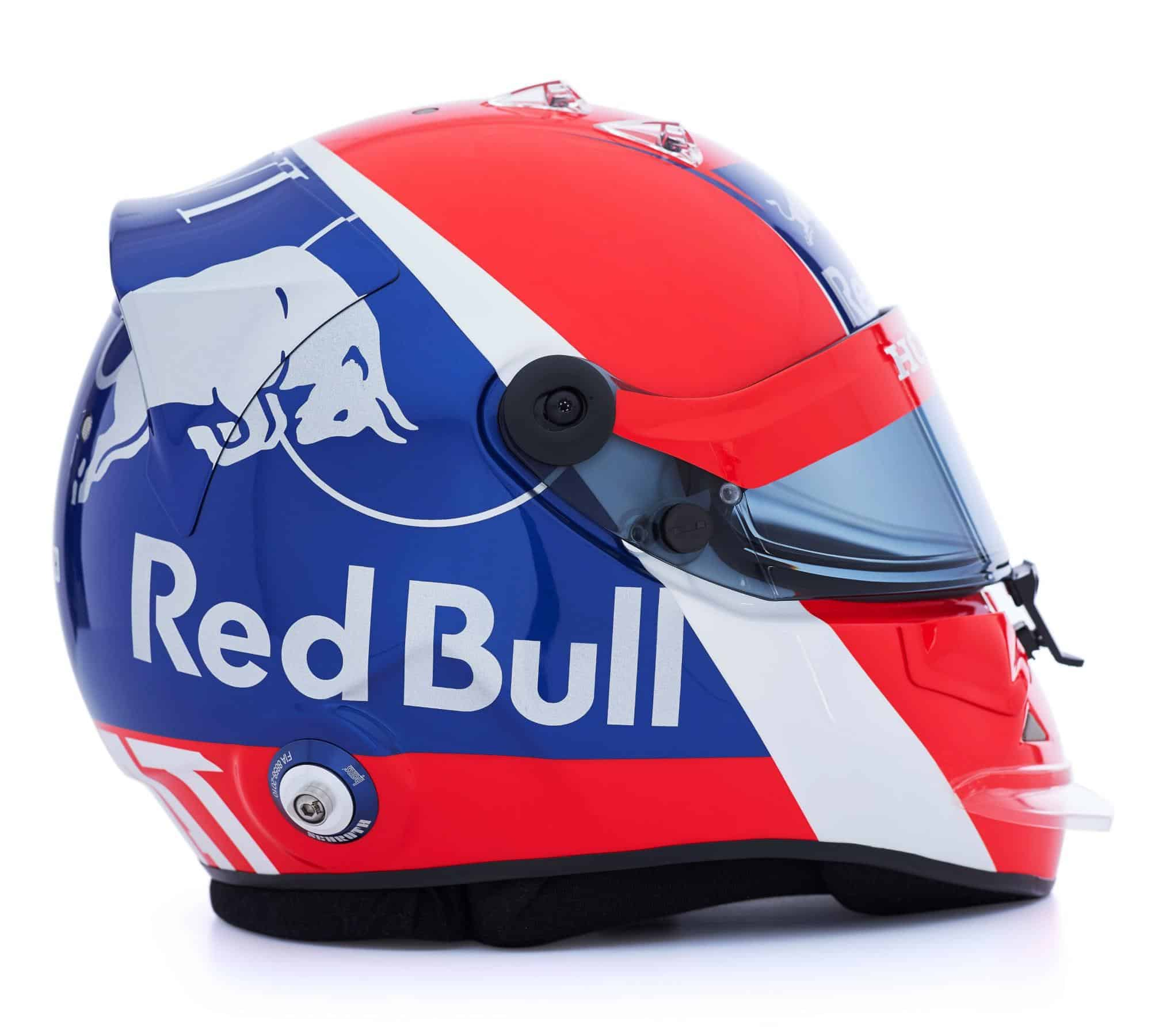 2019 F1 Daniil Kvyat helmet Toro Rosso Honda right side Photo Red Bull Edited by MAXF1net