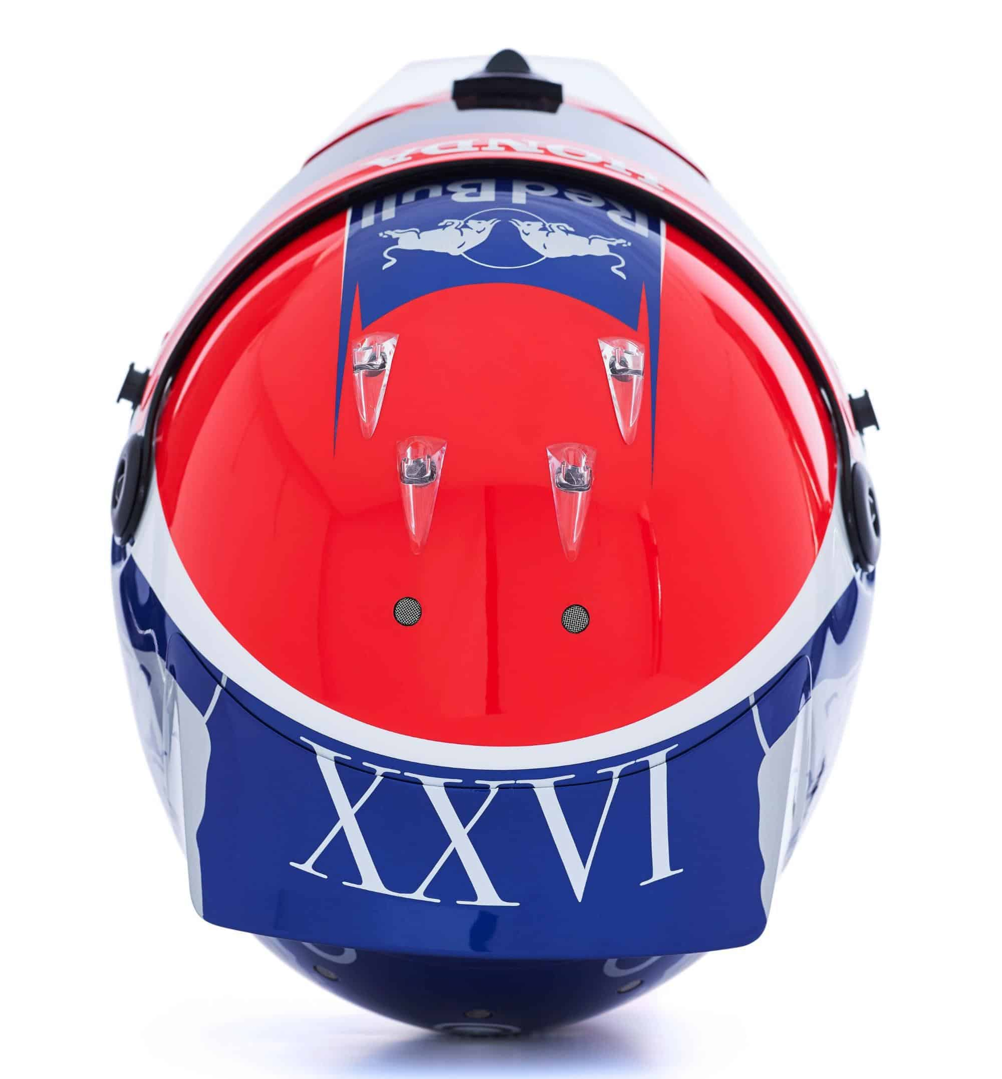 2019 F1 Daniil Kvyat helmet Toro Rosso Honda top Photo Red Bull Edited by MAXF1net