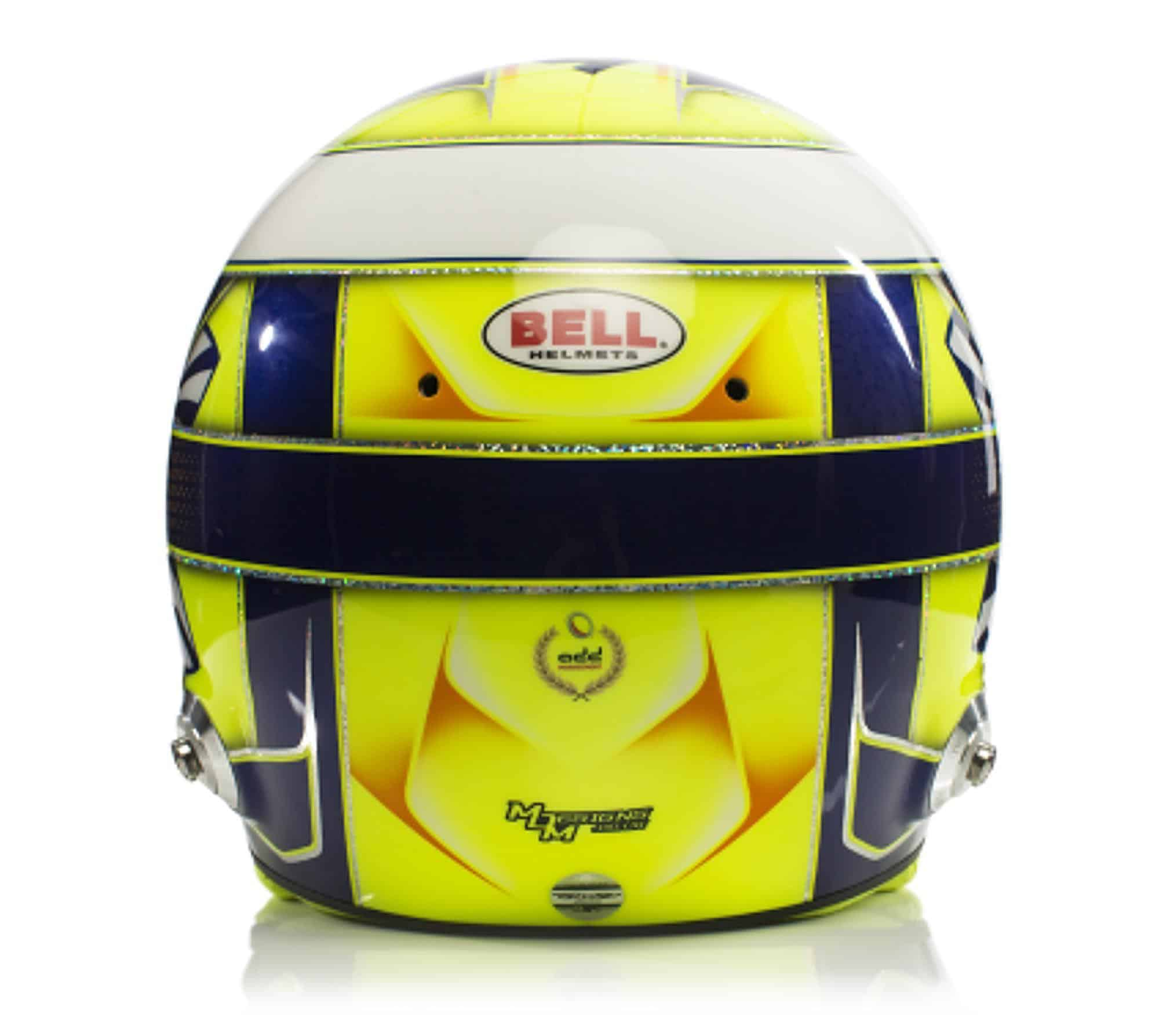 2019 F1 Lando Norris helmet McLaren Renault rear Photo McLaren Edited by MAXF1net