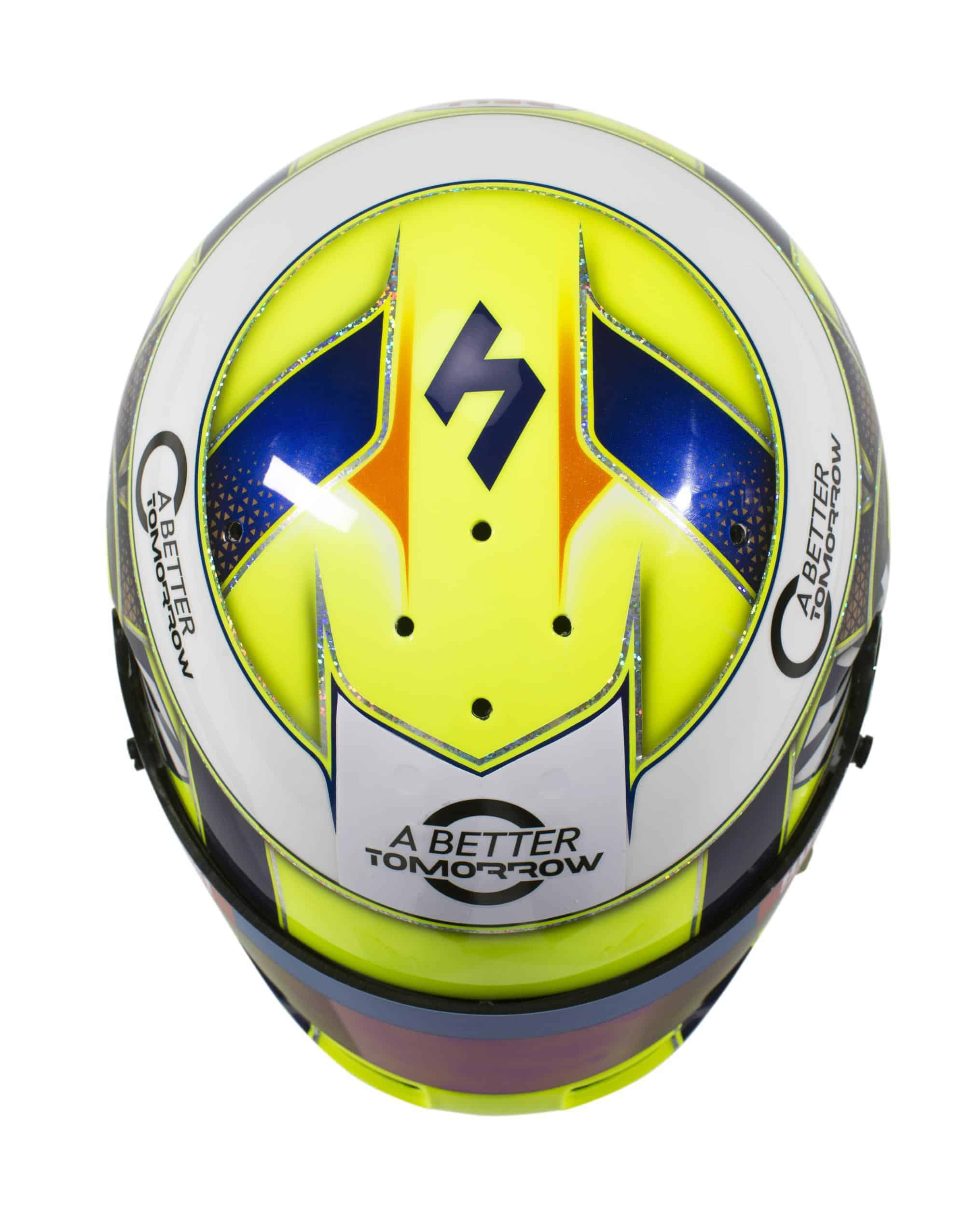 2019 F1 Lando Norris helmet McLaren Renault top Photo McLaren Edited by MAXF1net