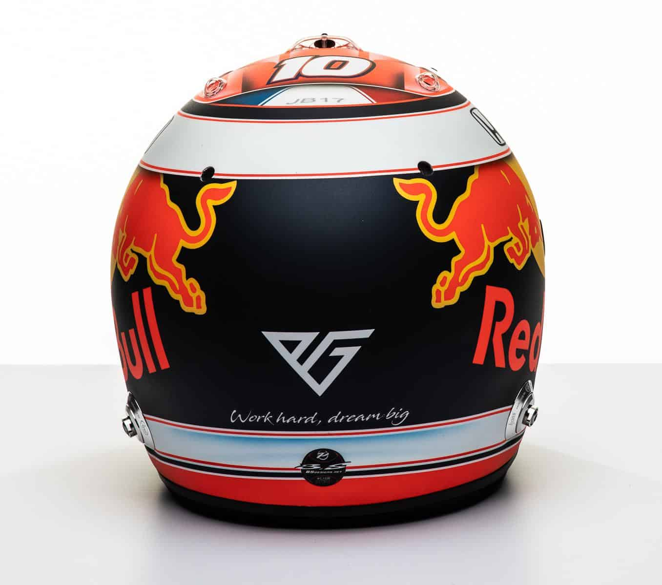 2019 F1 Pierre Gasly Red Bull Honda helmet rear Photo Red Bull Edited by MAXF1net