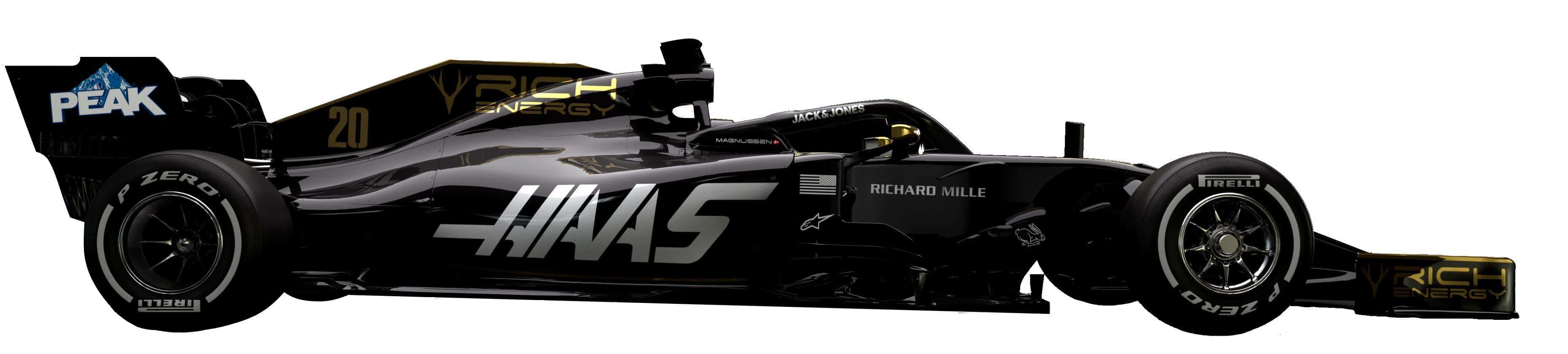 2019 Haas VF-19 side no background