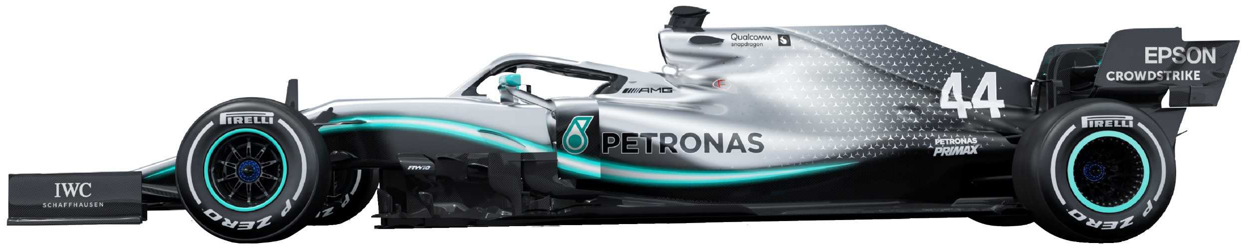 2019 Mercedes W10 no background