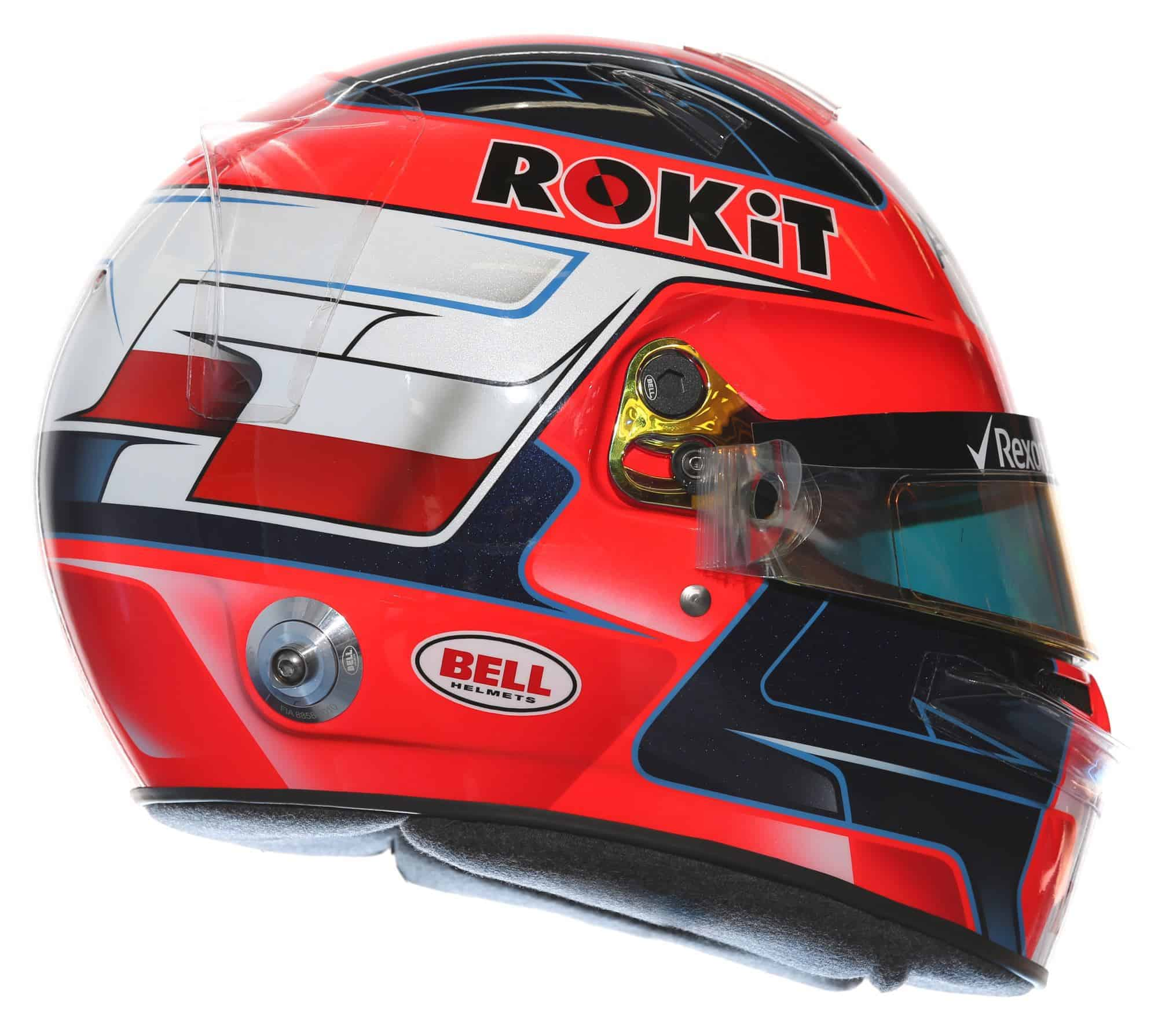 2019 Rokit Williams Racing Robert Kubica helmet right side Photo Williams Edited by MAXF1net