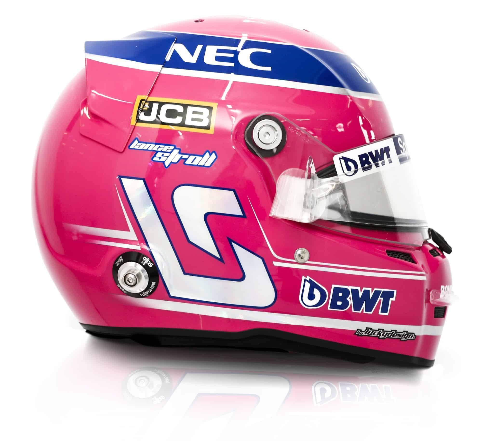 2019 Sport Pesa Racing Point Lance Stroll helmet right side Photo Racing Point Edited by MAXF1net