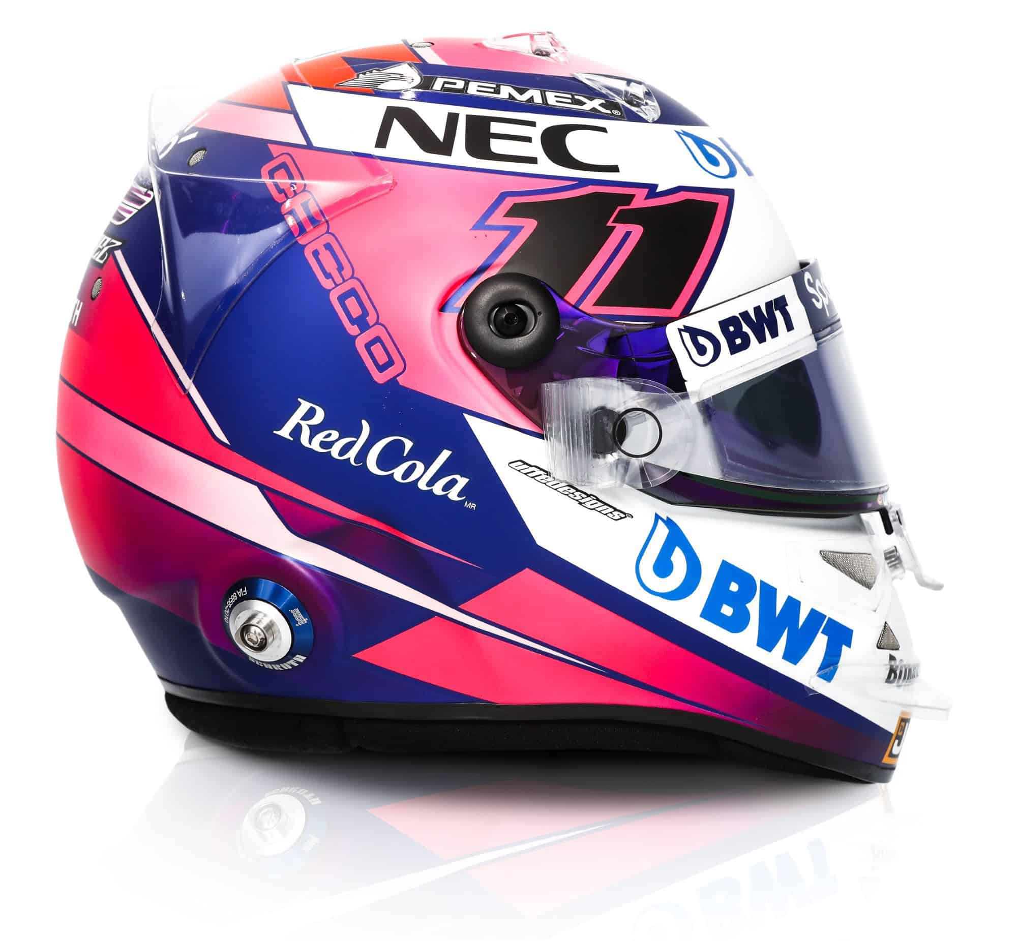 2019 Sport Pesa Racing Point Sergio Perez helmet right side Photo Racing Point Edited by MAXF1net