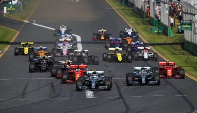 Australian GP F1 2019 start front shot Photo Daimler Edited by MAXF1net