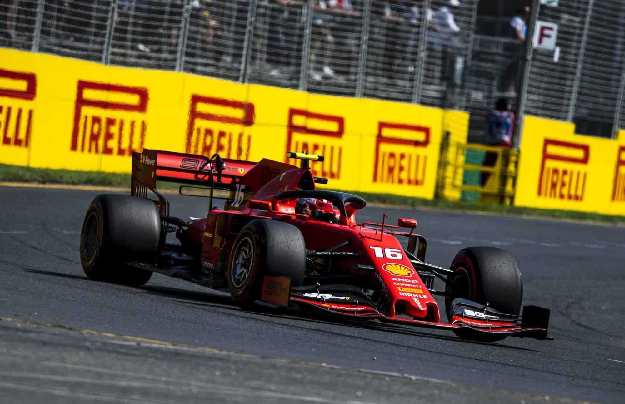Charles Leclerc Australian GP F1 2019 Photo Ferrari Edited by MAXF1net