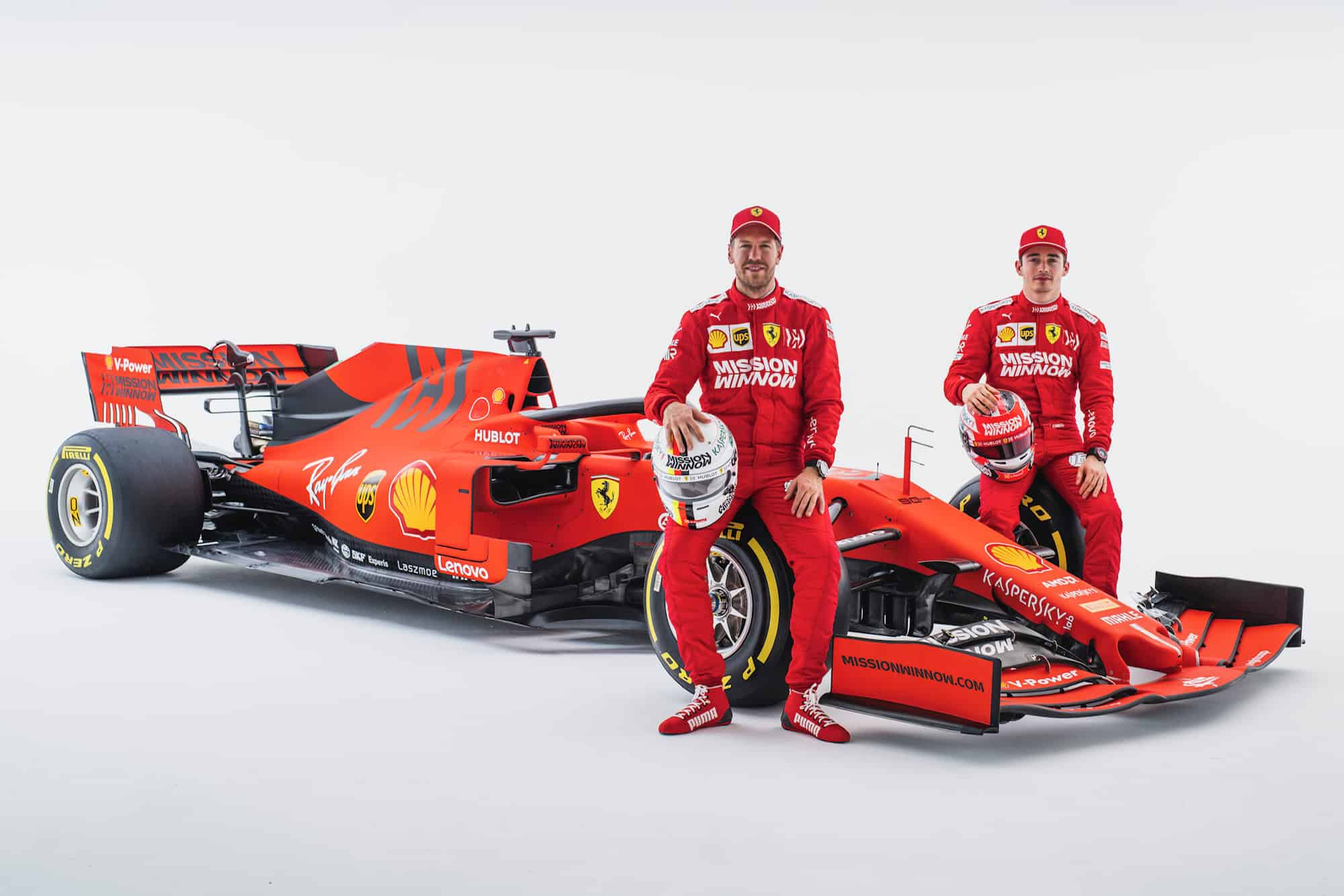 Charles Leclerc Sebastian Vettel Ferrari SF90 launch F1 2019 Photo Ferrari