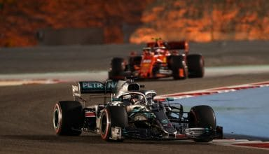 Hamilton leads Leclerc Bahrain GP F1 2019 qualifying Photo Daimler