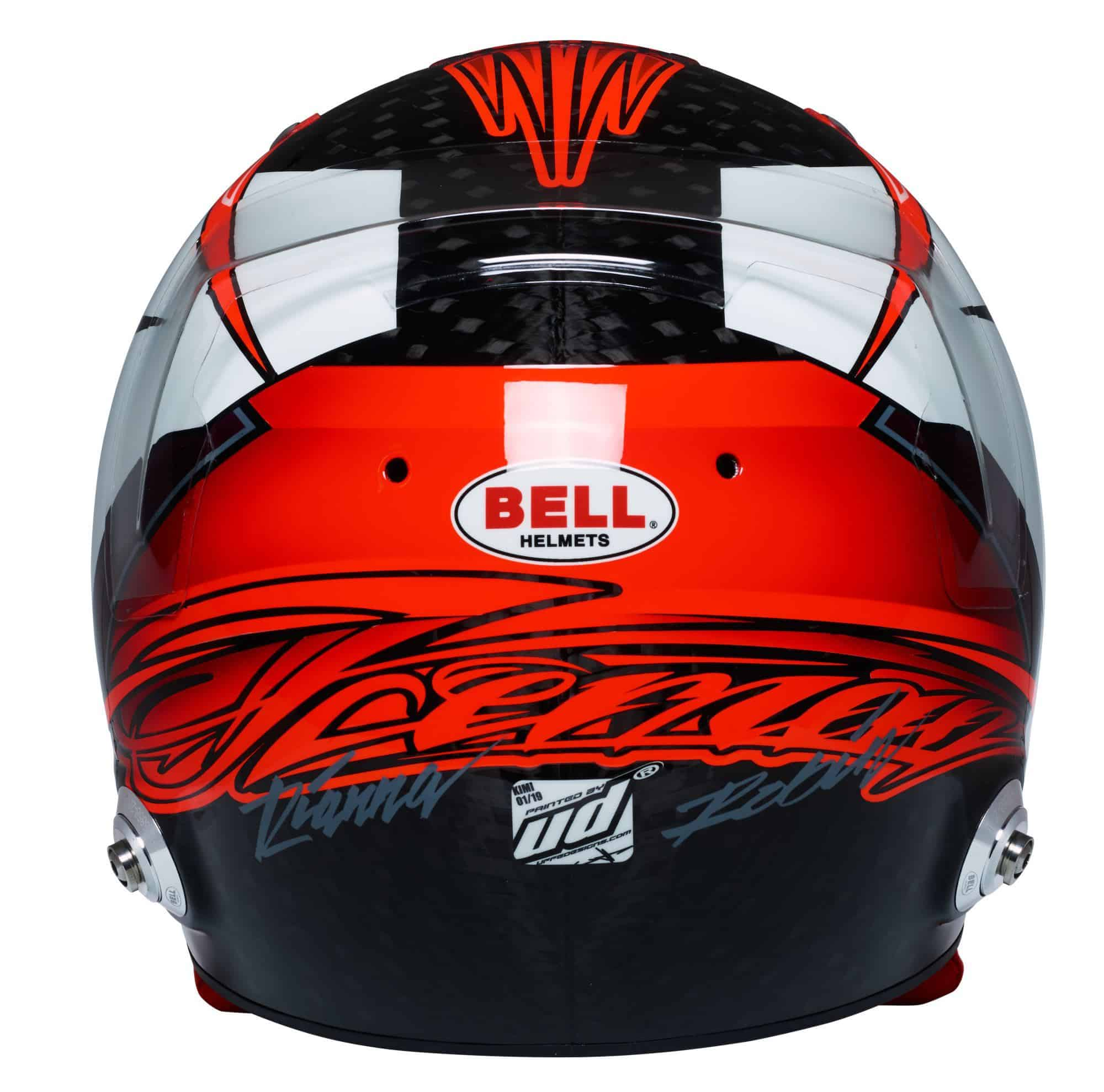 Kimi Raikkonen 2019 F1 helmet Alfa Romeo Racing rear Photo Alfa Romeo Edited by MAXF1net