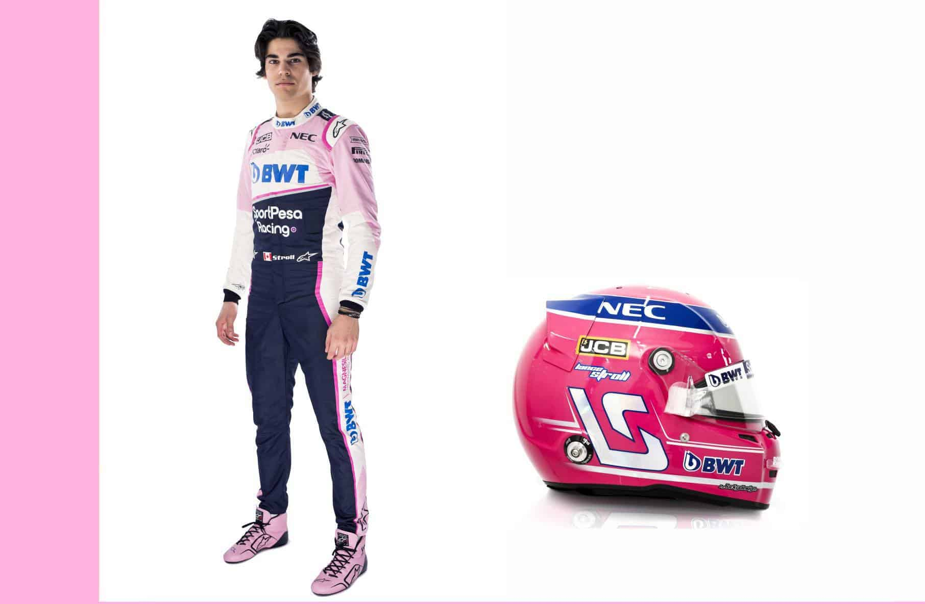 Lance Stroll Racing Point driver-portrait-and-helmet-F1-2019 edited by MAXF1net