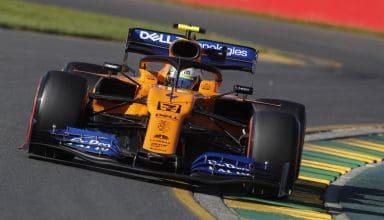 Lando Norris McLaren Renault Australian GP F1 2019 medium yellow tyres Photo McLaren Edited by MAXF1net