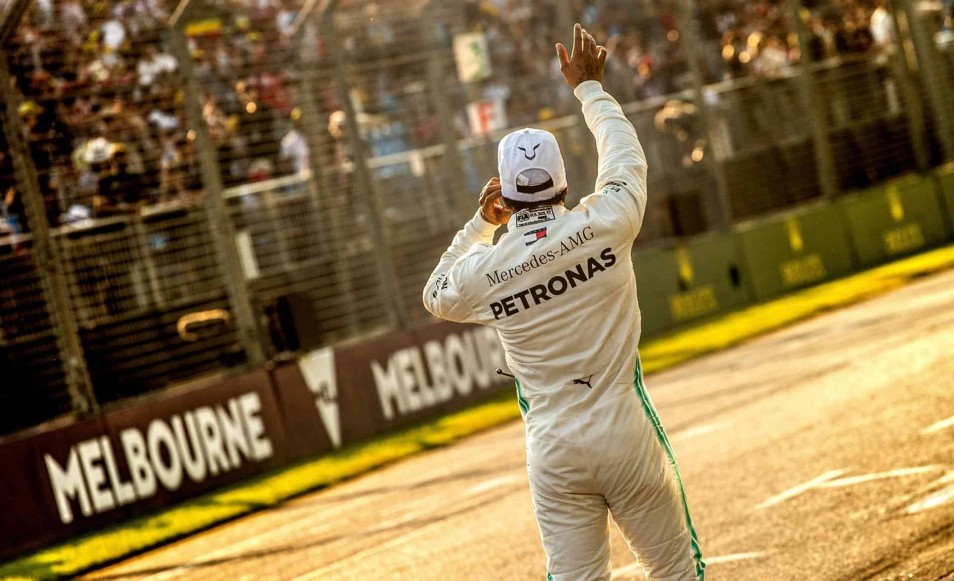 Lewis Hamilton Mercedes Australian GP F1 2019 after qualifying Photo Daimler Edited by MAXF1net
