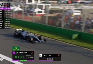 Lewis Hamilton Mercedes Australian GP F1 2019 qualifying live Q3 moment Photo F1 Youtube Edited by MAXF1net