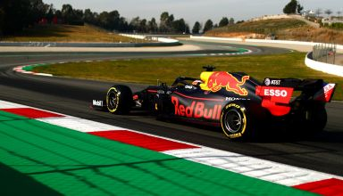 Pierre Gasly Barcelona Test 2 C3 tyres Pirelli Photo Red Bull