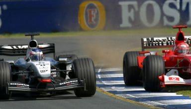 Schumacher Raikkonen Australian GP F1 2003 duel