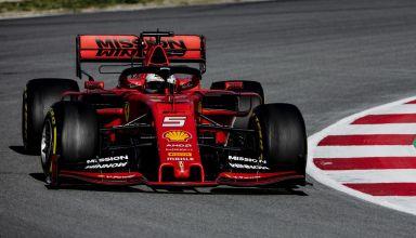 Sebastian Vettel Ferrari SF90 Barcelona Test 2 C3 tyres Pirelli Photo Ferrari