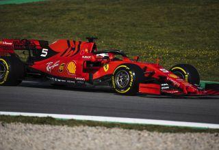 Sebastian Vettel Ferrari SF90 Barcelona Test 2 C3 tyres left corner Pirelli Photo Ferrari