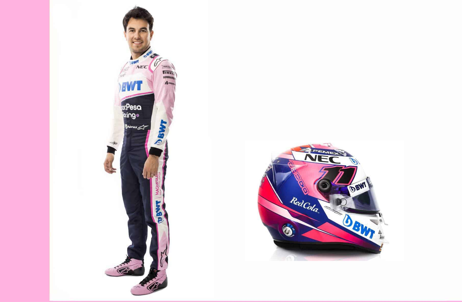 Sergio-Perez-Racing Point driver-portrait-and-helmet-F1-2019 edited by MAXF1net